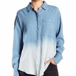 Splendid By Anthropologie Ombré Button Down Shirt